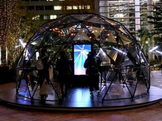 日本橋で宇宙テーマのアート&エンタメ企画 流星連動イルミや人工衛星展示も