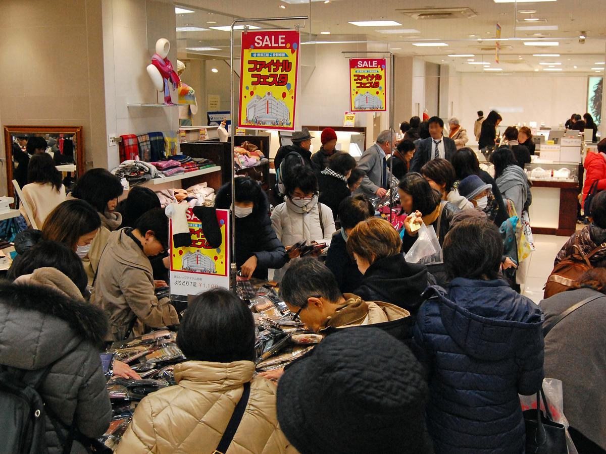 閉店セールをもって113年の歴史に幕を閉じる新潟三越