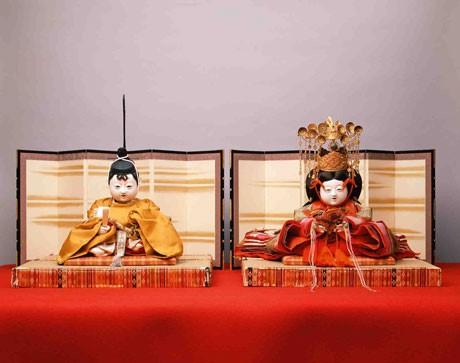 五世大木平蔵製 童子雛人形 のうち内裏びな (個人蔵) 昭和初期