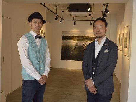 「共同館長」中村風詩人さんと福永夕太さん(右から)