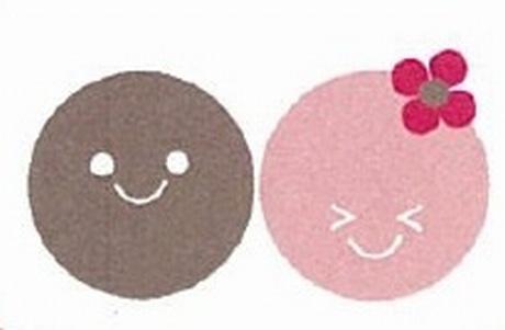ニコちゃん(左・男の子)タマちゃん(右・女の子)