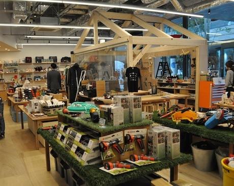 「DIY FACTORY FUTAKOTAMAGAWA」店内の様子(4月21日内覧会)