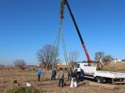 二子玉川で恒例「どんど焼き」開催へ 住民20人が櫓組み立て、高さ10メートルに