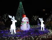世田谷・関東中央病院で冬のイルミネーション点灯式 「雪だるま」リニューアルも