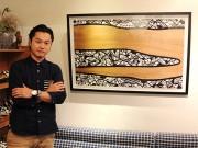 西宮・夙川で抽象画家Ahhiさん個展 7つの柄が織りなすアート