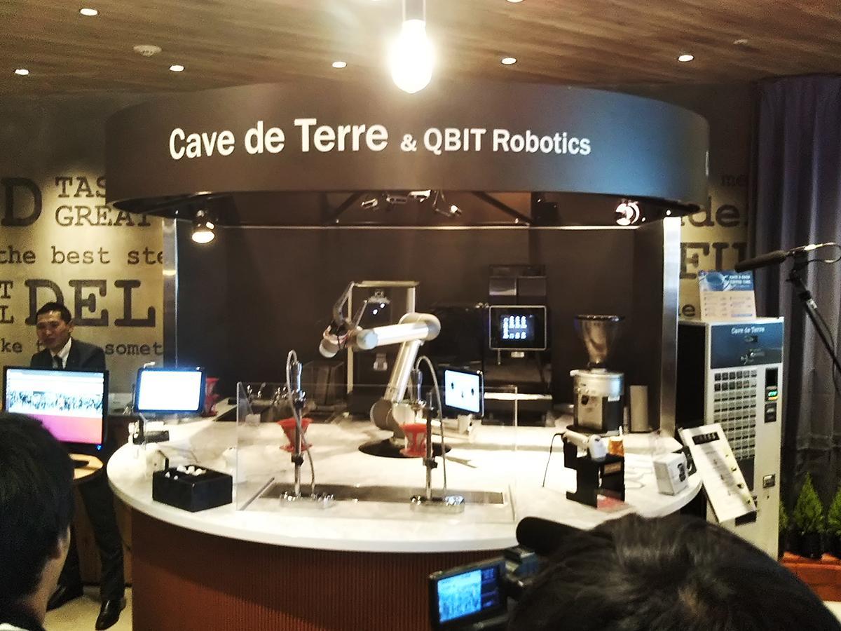 国内初となるAI搭載ロボットによるカフェシステム