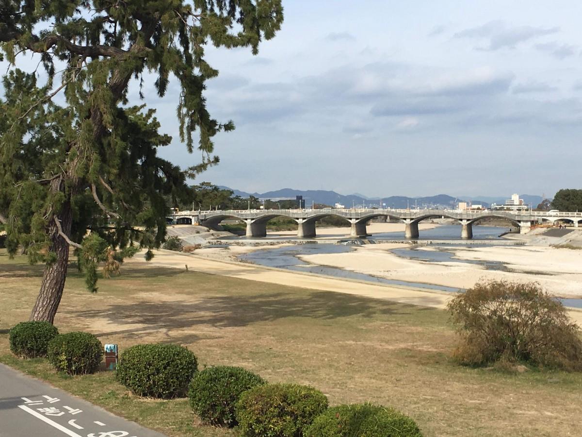 西宮市民にとっての憩いの場、武庫川河川敷