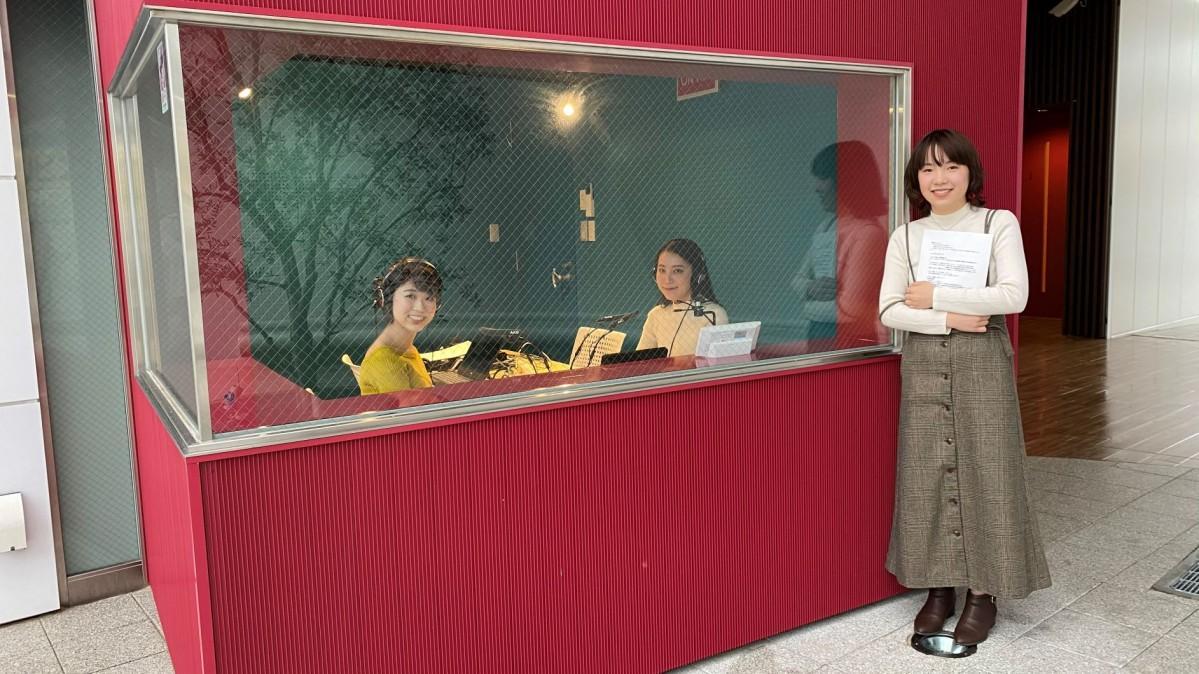 番組進行を担う武庫川女子大学情報メディア学科の学生ら