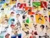 甲子園で「横山英史 イラスト展」 野球ファンなじみのイラスト原画30点