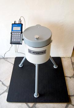 店内に設置された測定器