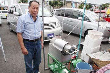 上原さんが開発した甘ぐり焙煎機