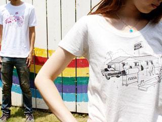随所にこだわった福生まれTシャツ
