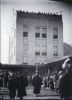 1924(大正13)年12月に開業した青梅駅(撮影=並木幾三郎さん)