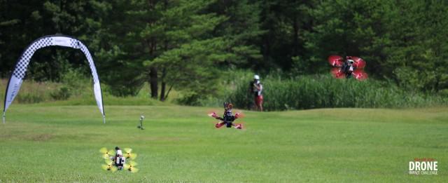 秋田でのレースの模様(提供元 Drone Impact Challenge)