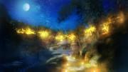 塩船観音寺で500年前の宴を再現 幻想的なライトアップ、「楽市楽座」も