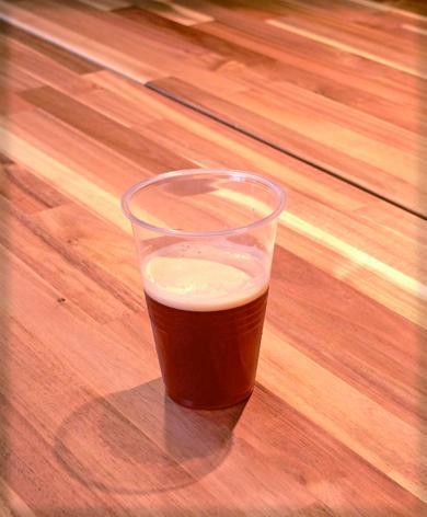 試作した地ビール
