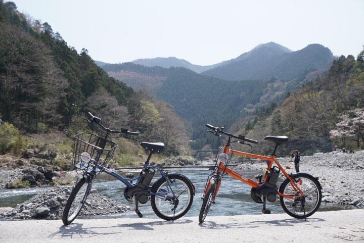 ミナクルで貸し出す電動アシスト付き自転車
