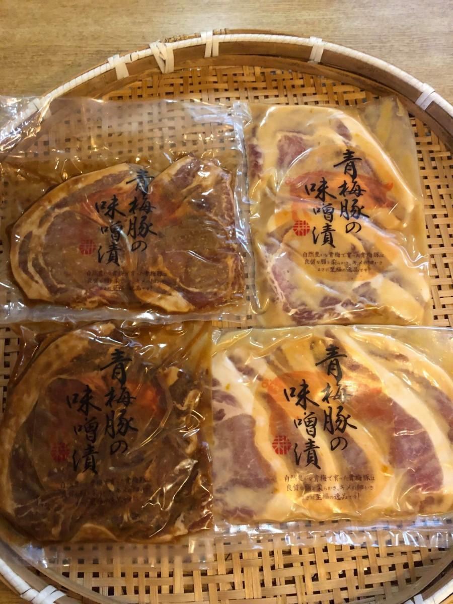 開発商品の1つ「青梅豚の味噌漬」