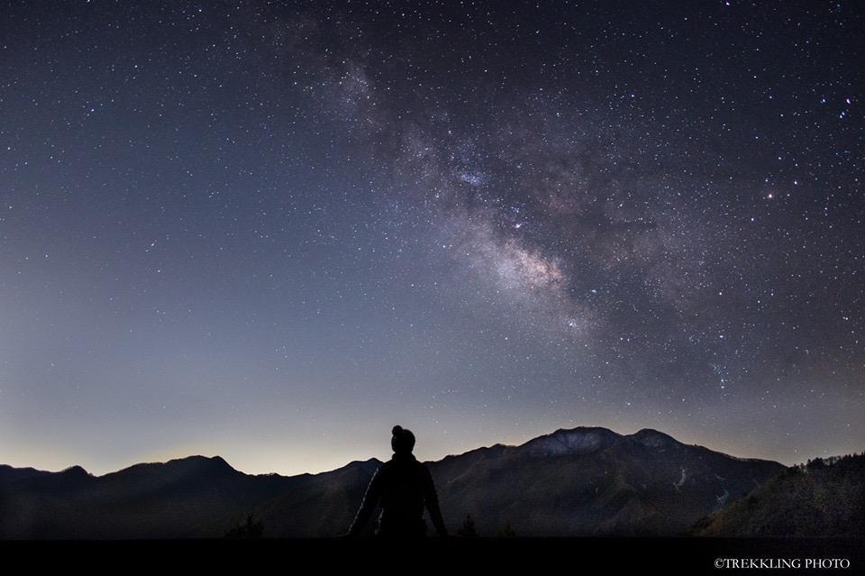 奥多摩の冬の夜空