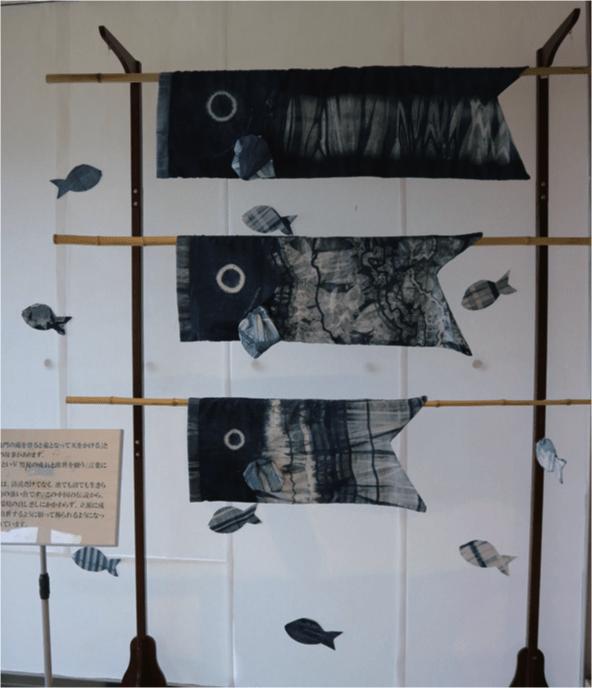 瑞穂町の伝統産業「村山大島紬」の鯉のぼり
