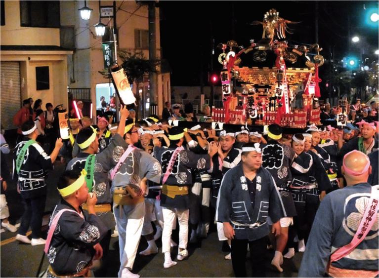 阿伎留神社例大祭の神輿