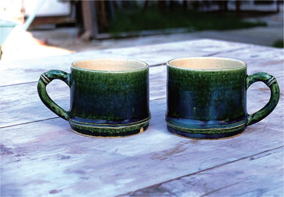 1点ずつ表情が違う竹モチーフのマグカップ