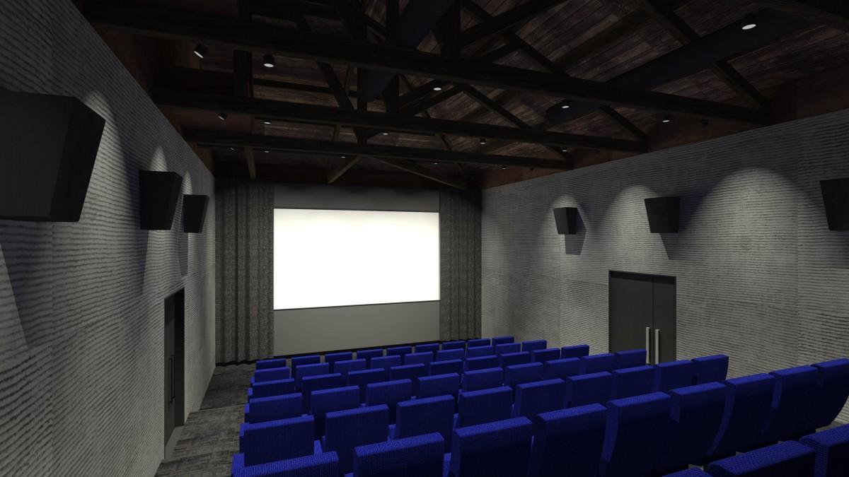 映画館の完成予想図