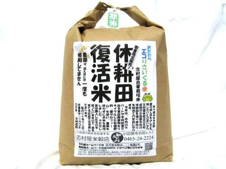店主自らが生産から販売まで手がけた「おだわらエコりさいくる米」