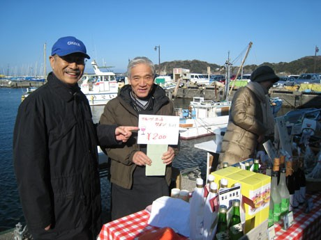 日影茶屋10代目当主の角田庄右衞門さん(向かって左側)