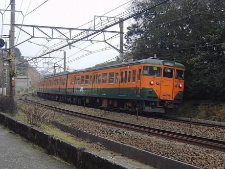 オレンジとグリーンの「湘南色」が象徴の113系電車