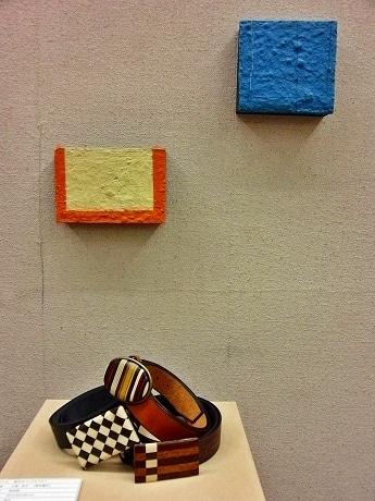 寄せ木と現代アートのモザイクが共鳴し合うような展示が特徴の「小田原もあ展」(写真=前回開催時)