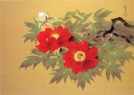 岡信孝「牡丹花」(成川美術館蔵)