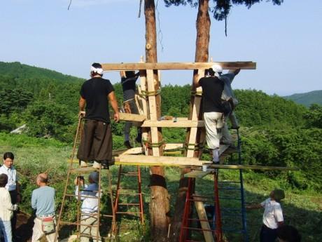 昨年行われた木造化の建設実験