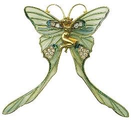 「春のプチ展示『パピヨンをおいかけて』」で展示されているブローチ「蝶の妖精」(1897~1899年ごろ)