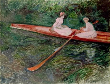 クロード・モネ《バラ色のボート》 1890年 ポーラ美術館