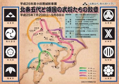「小田原城紋章展」のビジュアル
