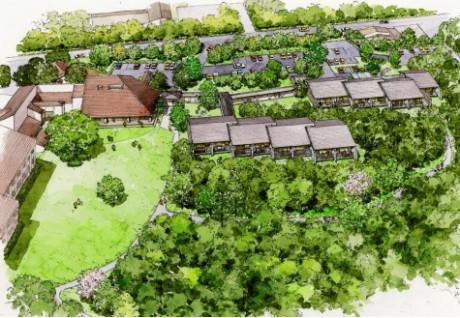「箱根ハイランドホテル」の新館「森のレジデンス」(完成予定パース)