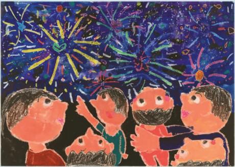 湯河原町の町民カレンダーに掲載する小中学生の絵画作品