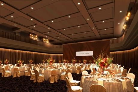 デザインを一新するイベントスペース「ヒルトン・アリーナ」