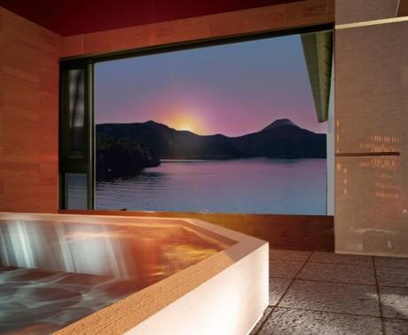 箱根ホテルに新設された「芦ノ湖の湯」