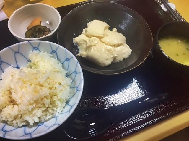 「できたて豆腐セット」(1,000円)