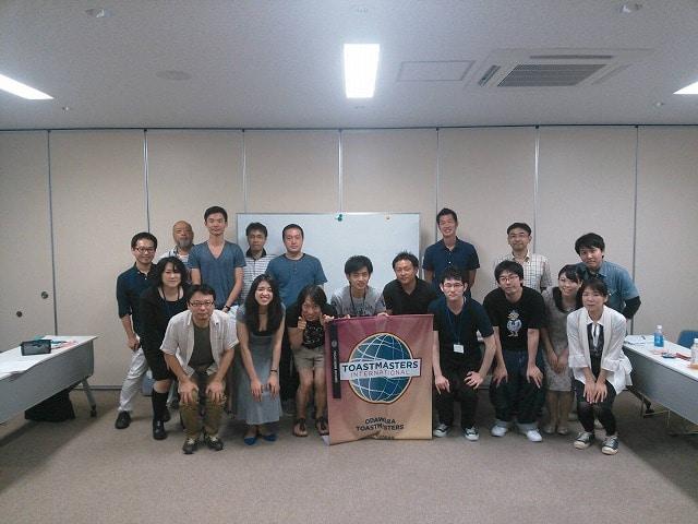 小田原トーストマスターズクラブ主催の勉強会「地元メディアに取り上げられる広報活動」に参加したメンバー