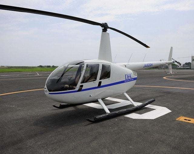 小田原城天守閣を空から楽しむヘリコプター遊覧飛行の機体