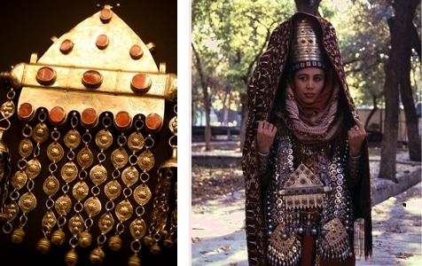 トルクメニスタンの装身具や民族衣装