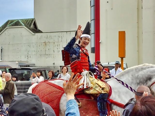 小田原ふるさと大使の合田雅吏さんは北条早雲を演じる。(撮影=松下善彦)