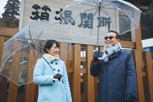 鉄壁の守りを誇ったのが箱根の関所の謎を解くタモリさんと近江友里恵アナウンサー(写真提供=NHK)