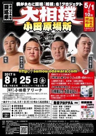 「大相撲 小田原場所」のポスター