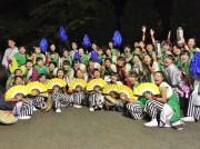 小田原で「ODAWARAえっさホイおどり」 「猿子」を鳴らして踊りを披露