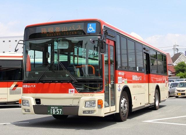 箱根登山バス桃源台線「ポーラ美術館行」のバス