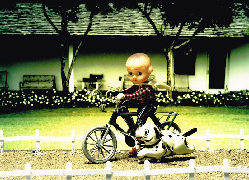 箱根写真美術館で開催中の「RETRO 60-70's トシ・ワカバヤシの世界」より(写真=「BICYCLE & DOGLINE  1960's 」 © Tosh WakabayashiI